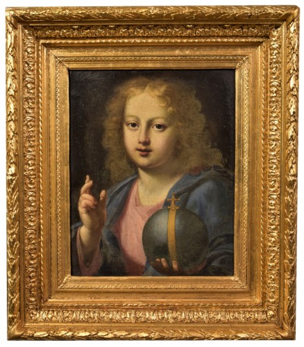 "The ""Salvator Mundi"" of Carlo Maratta, Italy 17th century"